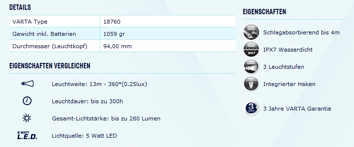 die varta indestructible 5 watt led lantern 3d im test dauertest. Black Bedroom Furniture Sets. Home Design Ideas