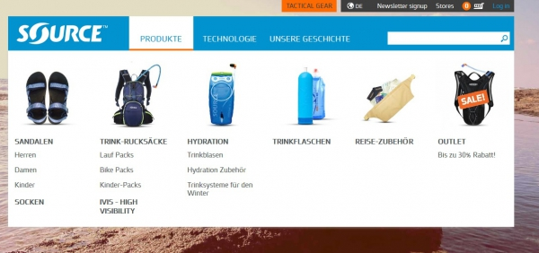 Alles NEU - Source Outdoor launcht neue Website mit Shopsystem
