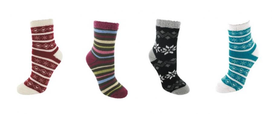 Warm durch die kalte zeit mit den yaktrax aloe cabin socks for Warm cabin socks